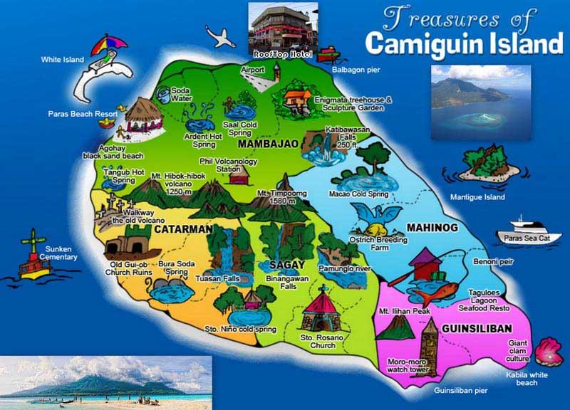 Карта острова Камигин