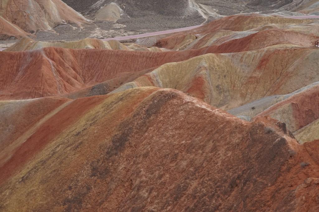 Цветные горы Данься, Гансу, Китай