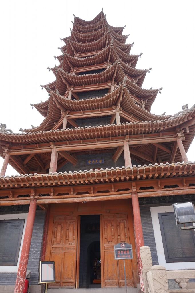 Древняя деревянная Пагода г. Чжанье, Провинция Ганьсу, Китай- ezdim.com/blog
